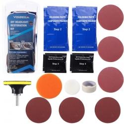 Visbella Lens Cleaner- Kit per lucidatura e rimodernatura dei fari